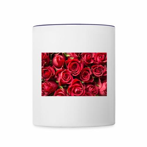 red rose beauty design - Contrast Coffee Mug