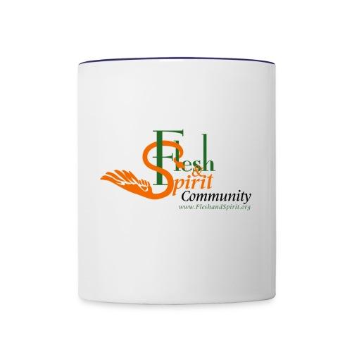 Flesh and Spirit Community T-Shirt - Contrast Coffee Mug