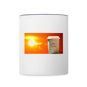 Good day coffee cup motivation message - Contrast Coffee Mug