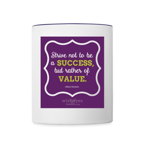 Einstein Quote Mug #1 - Contrast Coffee Mug