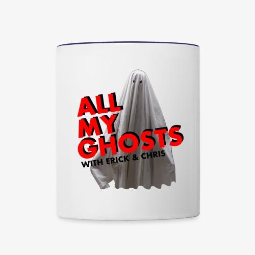 All My Ghosts Sheet Ghost - Contrast Coffee Mug