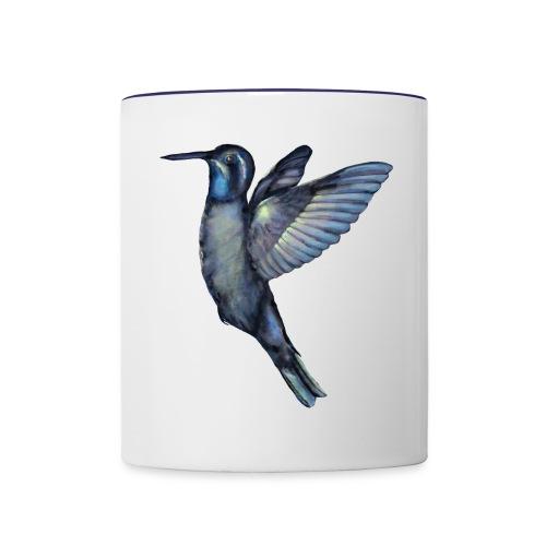 Hummingbird in flight - Contrast Coffee Mug