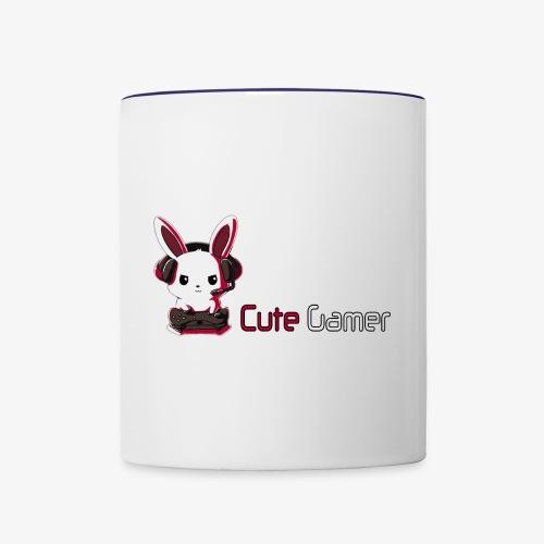 cute gamer - Contrast Coffee Mug