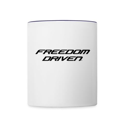 Freedom Driven Modern Black Lettering - Contrast Coffee Mug