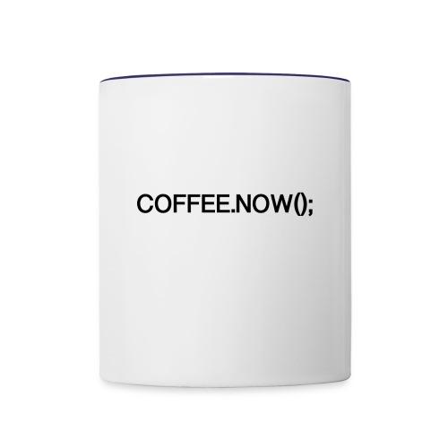 Coffee.now() - Contrast Coffee Mug