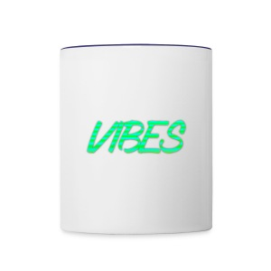 GREEN AND BLUE LOGO - Contrast Coffee Mug