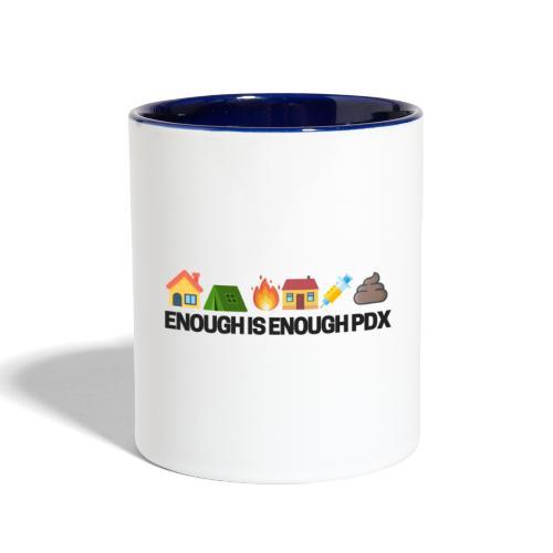 Enough is Enough Campaign Classic Design - Contrast Coffee Mug