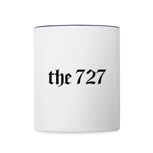The 727 in Black Lettering - Contrast Coffee Mug