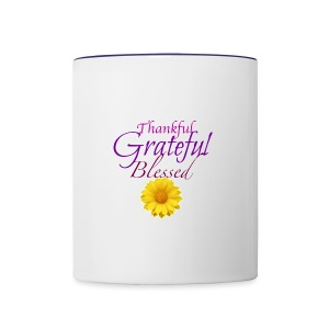 Thankful grateful blessed - Contrast Coffee Mug
