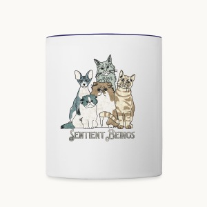 CATS - SENTIENT BEINGS - Carolyn Sandstrom - Contrast Coffee Mug