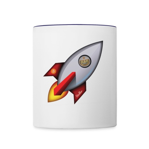 Bit for Buck: Hodler Rocket Coffee Mug - Contrast Coffee Mug