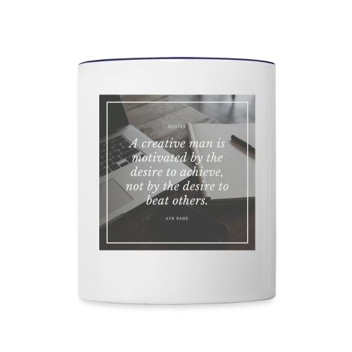 Ayn Rand Quote - Contrast Coffee Mug