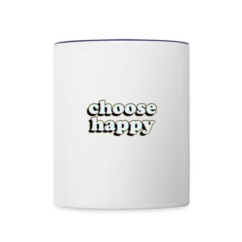 Choose Happy - Contrast Coffee Mug