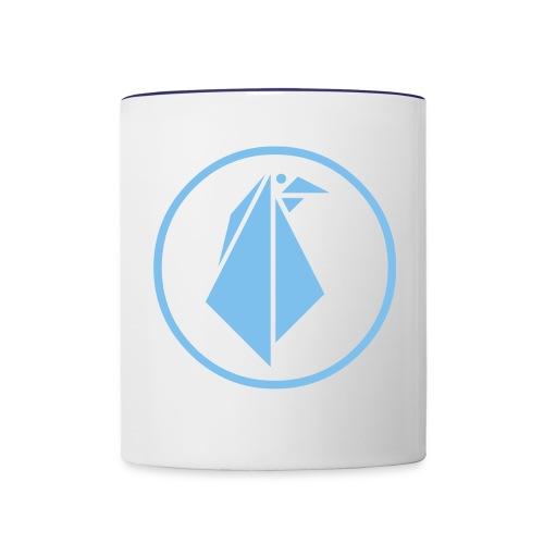 EMPEROR PENGUINS Blue Penguin Logo - Contrast Coffee Mug