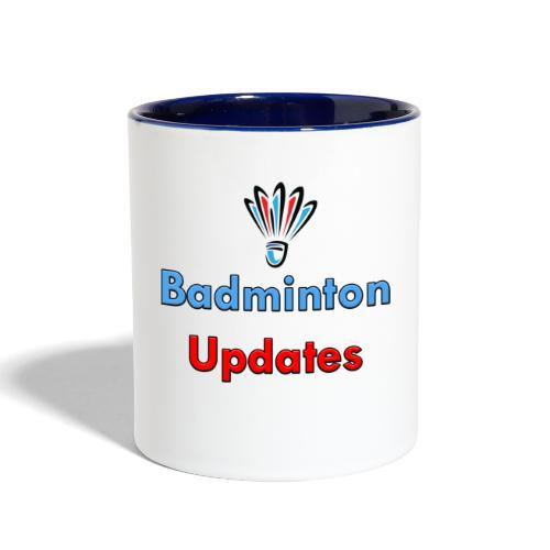 Badminton Updates Logo - Contrast Coffee Mug