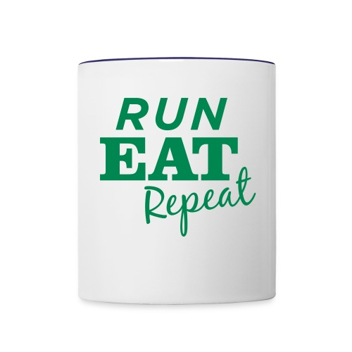 Run Eat Repeat buttons medium - Contrast Coffee Mug