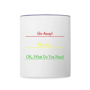 Go Away - Contrast Coffee Mug