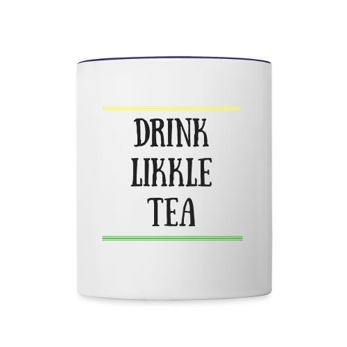 Drink likkle tea mug - Contrast Coffee Mug