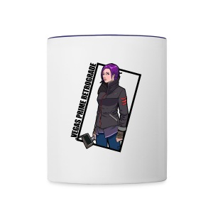 Vegas Prime Retrograde - Clara with Black Border - Contrast Coffee Mug