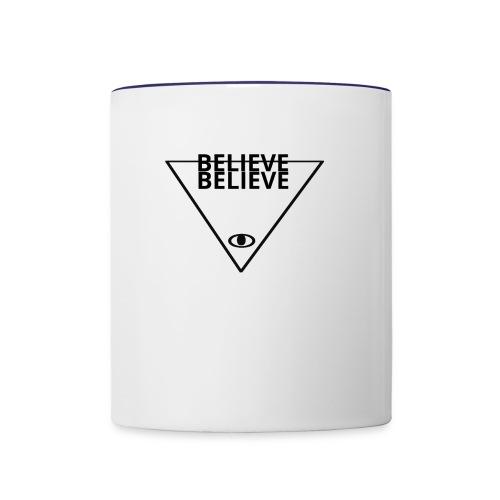 BELIEVE - Contrast Coffee Mug