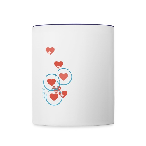 SuperHearts - Contrast Coffee Mug