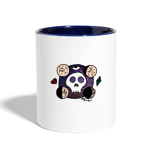 Moon Skull from Outer Space - Contrast Coffee Mug