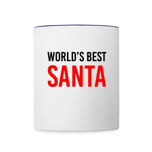 World's Best Santa Mug - Contrast Coffee Mug