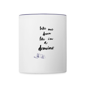 Domino lyrics - Contrast Coffee Mug