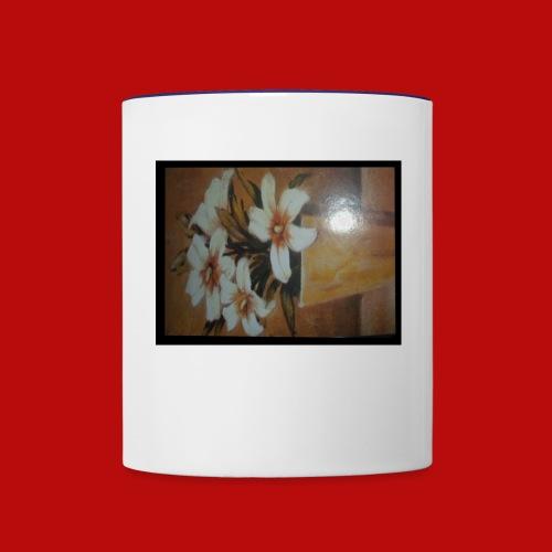daisies - Contrast Coffee Mug
