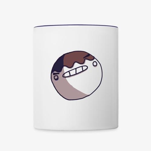 I'm dying inside face - Contrast Coffee Mug