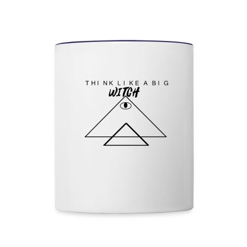 THINK LIKE A BIG WITCH - Contrast Coffee Mug
