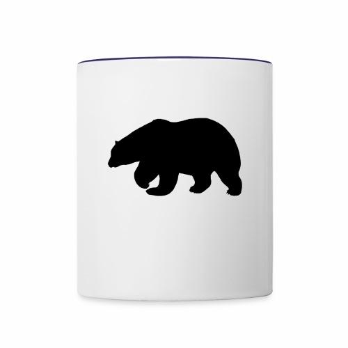 Bear Sihloette Design - Contrast Coffee Mug