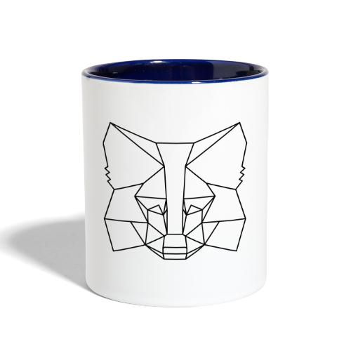 MetaMask Fox Outline black - Contrast Coffee Mug