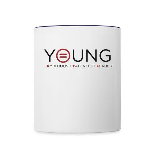 T Logo Black Text - Contrast Coffee Mug