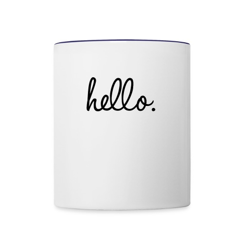 1197db77d01bb6c8c33eef99d64fc7d7 text quotes word - Contrast Coffee Mug