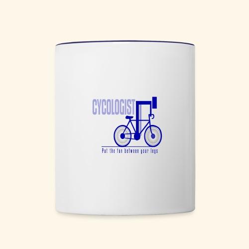 Cycologist T Shirt for Men, Women, Kids, Babies - Contrast Coffee Mug