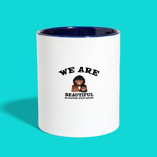 You are Beautiful Black Woman - Contrast Coffee Mug