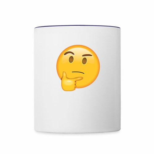 Thinking Face - Contrast Coffee Mug
