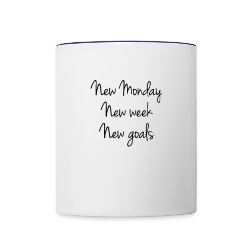 Monday Goals - Contrast Coffee Mug