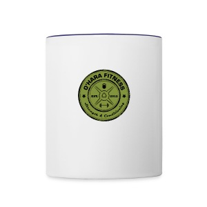 White Mug Green logo - Contrast Coffee Mug