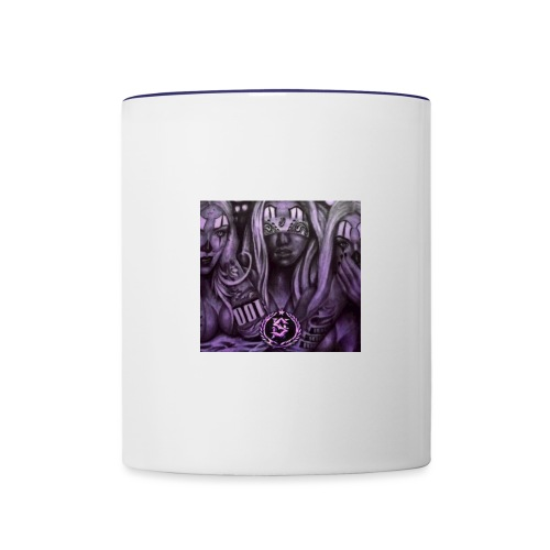 see no hear no - Contrast Coffee Mug