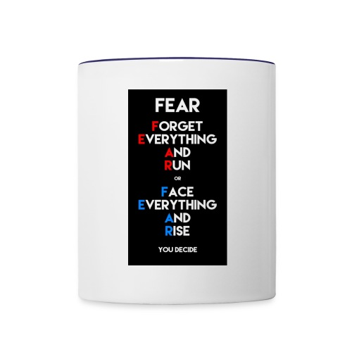 Fear - Contrast Coffee Mug