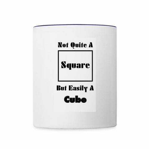 Not Quite A Square But Easily A Cube - Contrast Coffee Mug
