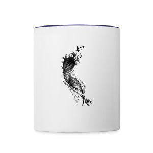 Black Feither - Contrast Coffee Mug