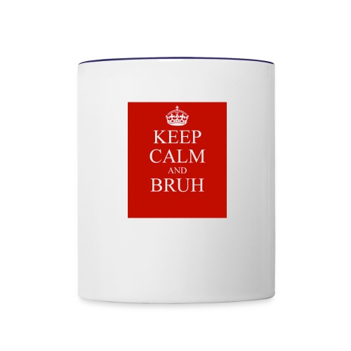 DP Branded-Keep Calm And Drink Bruh - Contrast Coffee Mug