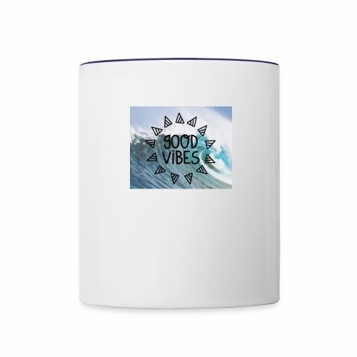 good vibes - Contrast Coffee Mug