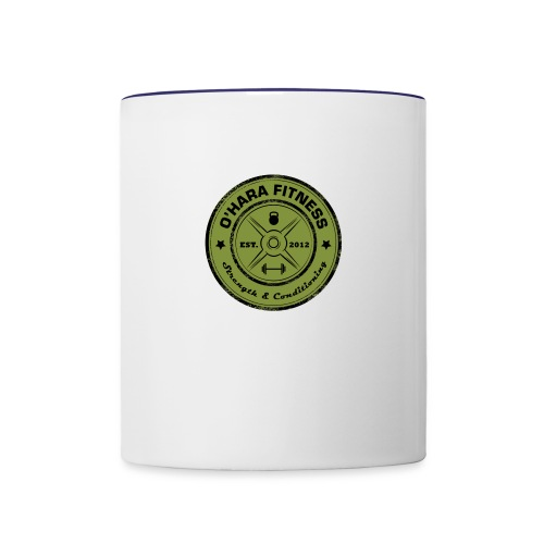 White Mug Green logo - Contrast Coffee Mug