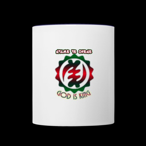God is King Adinkra - Contrast Coffee Mug