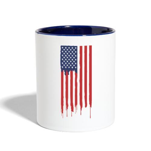 American flag - Contrast Coffee Mug