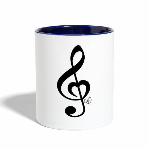 Treble Clef Heart - Contrast Coffee Mug